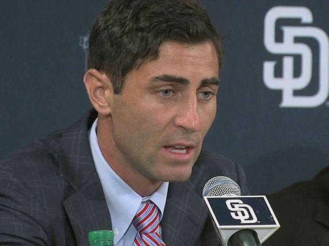 A. J. Preller San Diego Padres hire AJ Preller to be executive vice