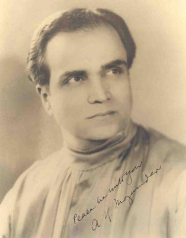 A. K. Mozumdar wwwmozumdarorgimagesAKM1934autographed2jpg