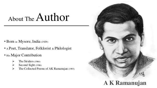 A. K. Ramanujan A Flowering Tree by A K Ramanujan