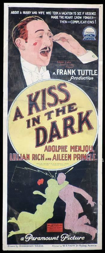 A Kiss in the Dark (1925 film) Theatrical poster for the 1925 silent film A Kiss In The Dark The
