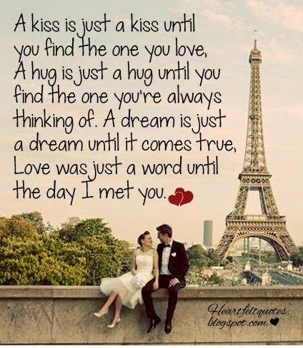 A Kiss is Just a Kiss A kiss is just a kiss until you find the one you love Heartfelt