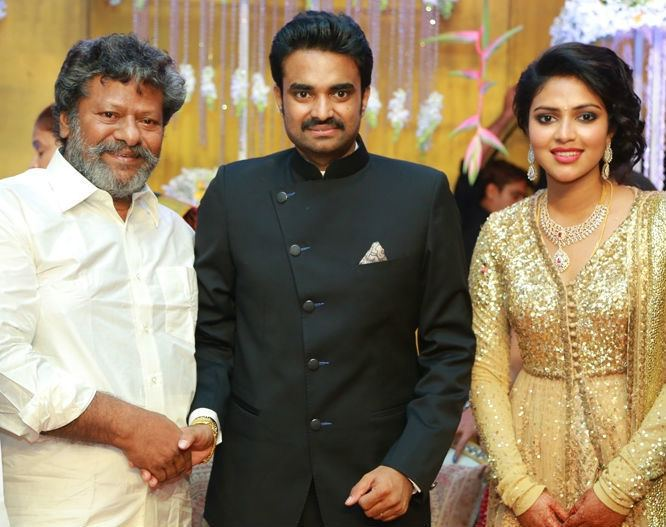 A. L. Vijay Amala Paul and AL Vijay Marriage Reception Filmibeat Gallery