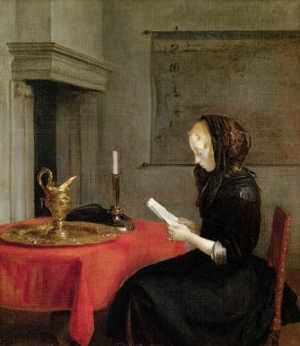 A Lady Writing a Letter A LADY WRITING by Johannes Vermeer