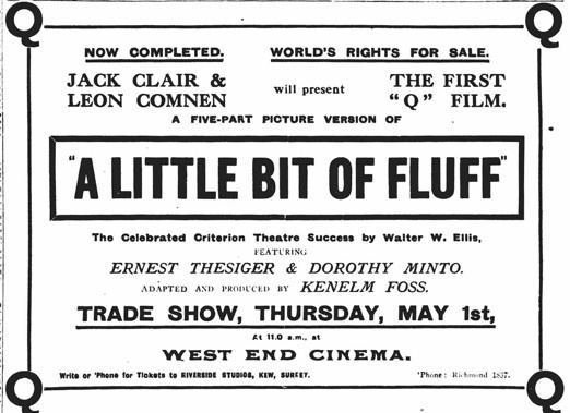 A Little Bit of Fluff (1919 film) A Little Bit of Fluff Ernest Thesiger as Bertram Tully 1919 Q Film