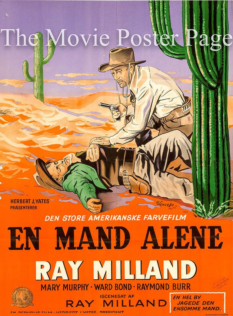 A Man Alone (film) Movie Poster Collecting A Man Alone 1955 Ray Milland Danish