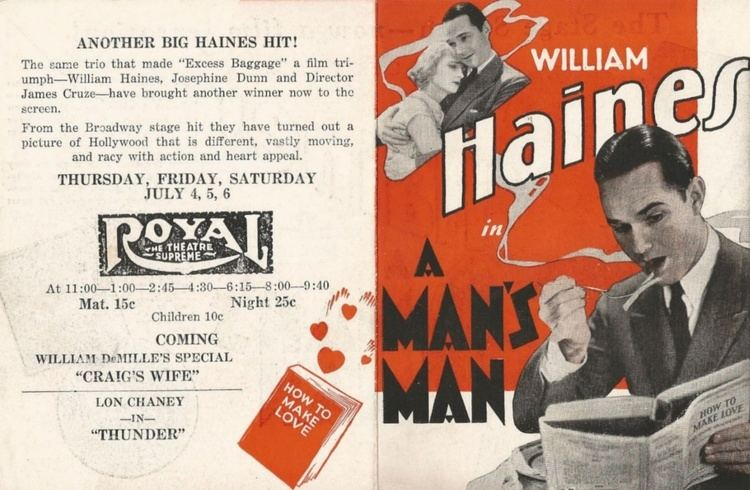 A Man's Man (1929 film) GarboForever A Mans Man The lost cameo role