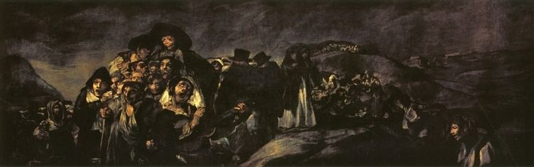 A Pilgrimage to San Isidro The Pilgrimage of San Isidro 1820 1823 Francisco Goya WikiArtorg