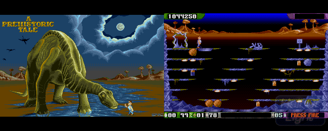 A Prehistoric Tale Prehistoric Tale A Hall Of Light The database of Amiga games