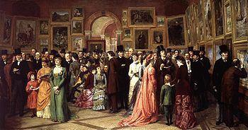 A Private View at the Royal Academy, 1881 httpsuploadwikimediaorgwikipediacommonsthu