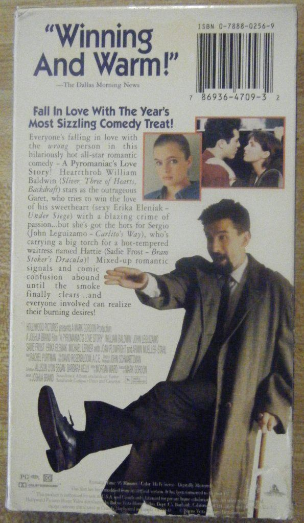 A Pyromaniac's Love Story A PYROMANIACS LOVE STORY VHS Movie John Leguizamo William