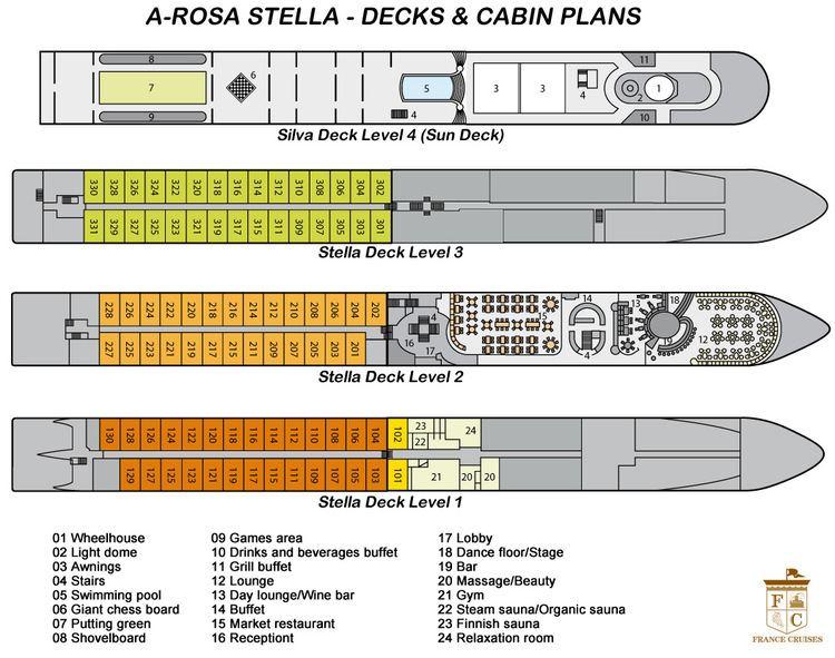 A-Rosa Stella AROSA STELLA Burgundy amp Provence Riverboat Cruise in France