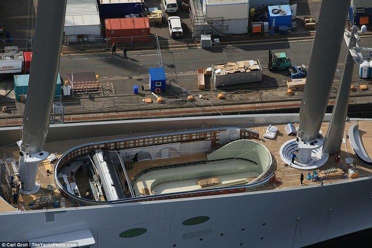 A (sailing yacht) Russian billionaire Andrey Igorevich Melnichenko39s yacht is the