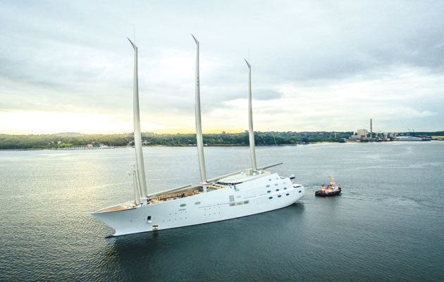 A (sailing yacht) Video of Sailing Yacht A the world39s largest sailassisted vessel