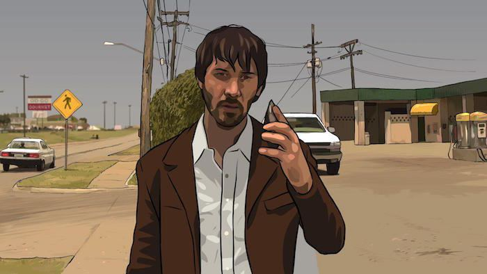 A Scanner Darkly (film) movie scenes The Dissolve One of the unique things about Waking Life and A Scanner Darkly is that the style bridges the gap between hand drawn and computer animation