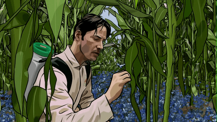 A Scanner Darkly (film) movie scenes A Scanner Darkly 2006 Linklater returned to rotoscoping more successfully with this adaptation of Phillip K Dick s novel of the same name about an