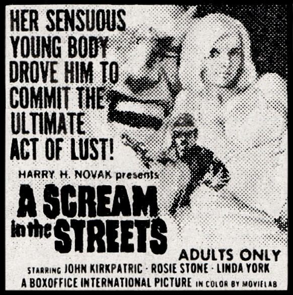 A Scream in the Streets A Scream In The Streets 1973 aka Scream Street Girls In The Street