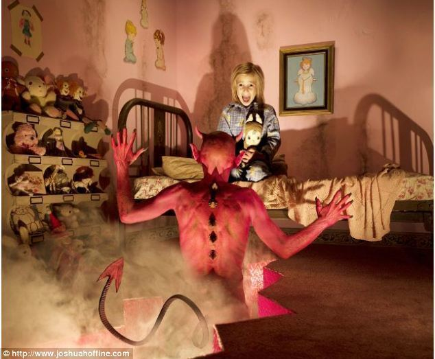 A Singing Fairy movie scenes Bedtime terrors The figure of the devil emerging from the bedroom floor blurs the boundary