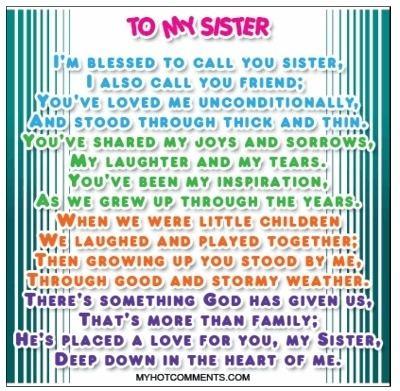 A Sister's Love A Sisters Love Writeforsanitysake