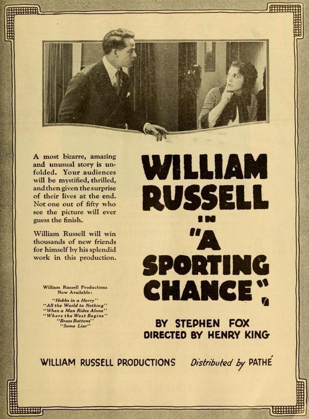 A Sporting Chance (1919 Pathe film)