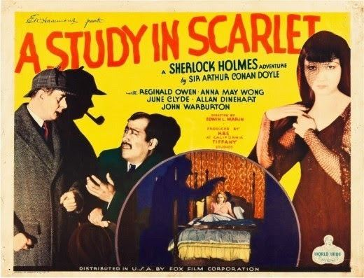 A Study in Scarlet (1933 film) SHERLOCK HOLMES AND A STUDY IN SCARLET 1933 Comic Book and Movie