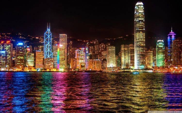 A Symphony of Lights A Symphony of Lights Hong Kong HD desktop wallpaper High