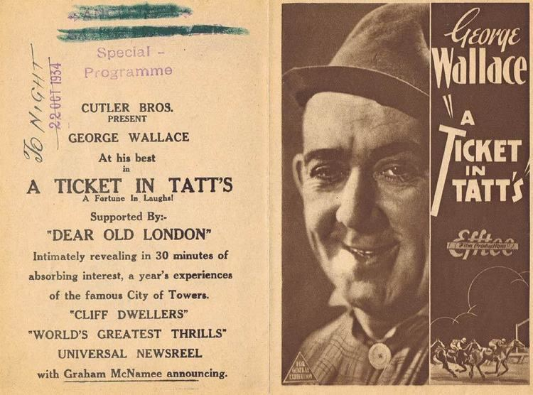A Ticket in Tatts (1934 film) A TICKET IN TATTS 1934 FWThring Movie Herald Australian Cinema