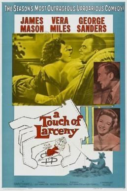 A Touch of Larceny movie poster