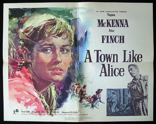 A Town Like Alice (1956 film) A TOWN LIKE ALICE Movie poster 1956 Classic AUSTRALIAN FILM Rare US