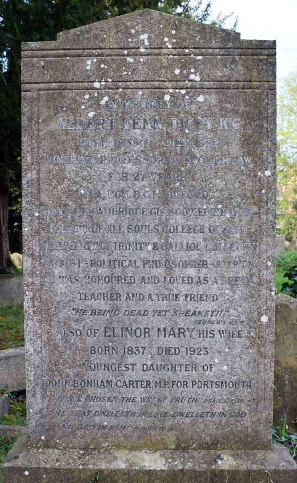 A. V. Dicey Albert Venn Dicey St Sepulchres Cemetery Oxford