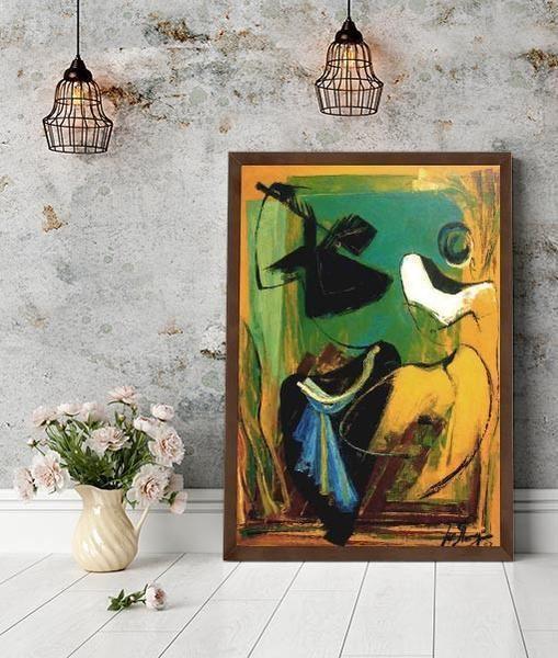 A. V. Ilango Indian Artist AV Ilango High Quality Prints on Canvas