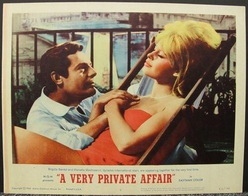 A Very Private Affair A Very Private Affair Original US Lobby Card Set of 8 Vintage Movie