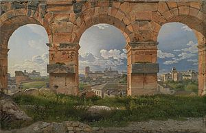 A View through Three of the North-Western Arches of the Third Storey of the Coliseum httpsuploadwikimediaorgwikipediacommonsthu