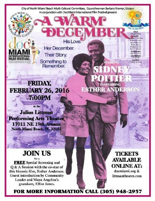 A Warm December DocMiami Film Festival Partners with City of North Miami Beach to