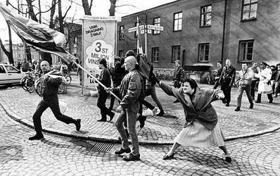 A Woman Hitting a Neo-Nazi With Her Handbag httpsuploadwikimediaorgwikipediaen004AW