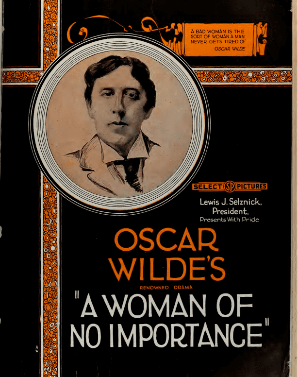 A Woman of No Importance (1921 film) A Woman of No Importance 1921 film Wikipedia
