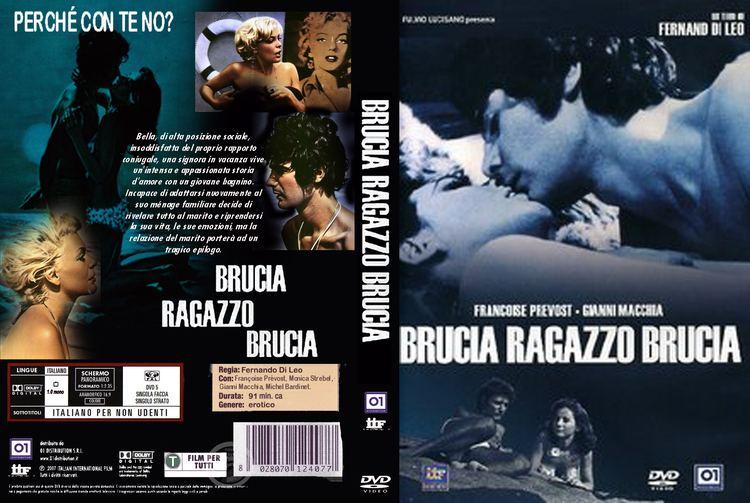 A Woman on Fire Copertina dvd Brucia ragazzo brucia cover dvd Brucia ragazzo brucia