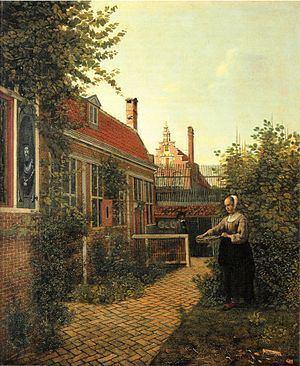 A Woman with a Basket of Beans in a Garden httpsuploadwikimediaorgwikipediacommonsthu