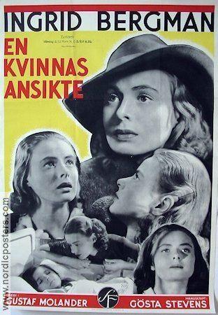 A Woman's Face (1938 film) EN KVINNAS ANSIKTE Filmaffisch 1938 original Nordic Posters