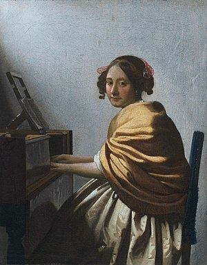 A Young Woman Seated at the Virginals httpsuploadwikimediaorgwikipediacommonsthu