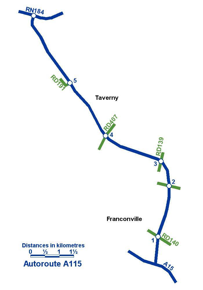A115 autoroute