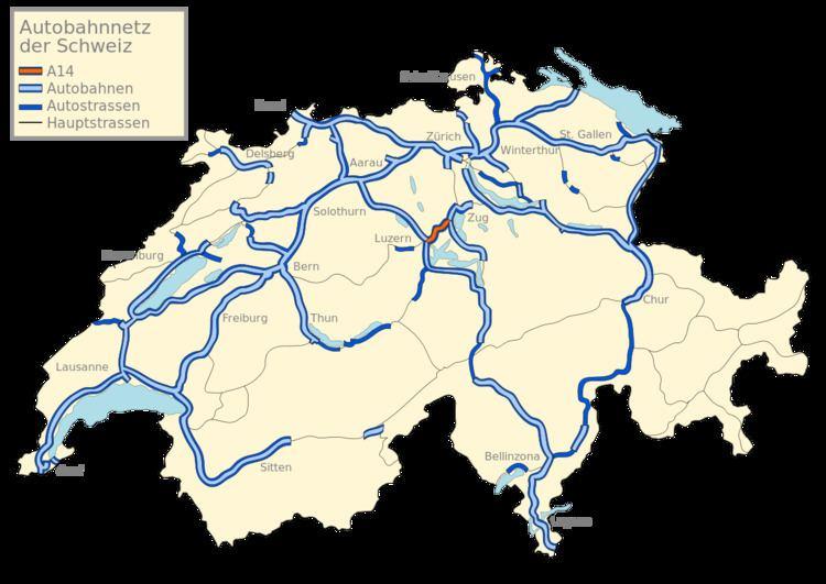 A14 motorway (Switzerland)
