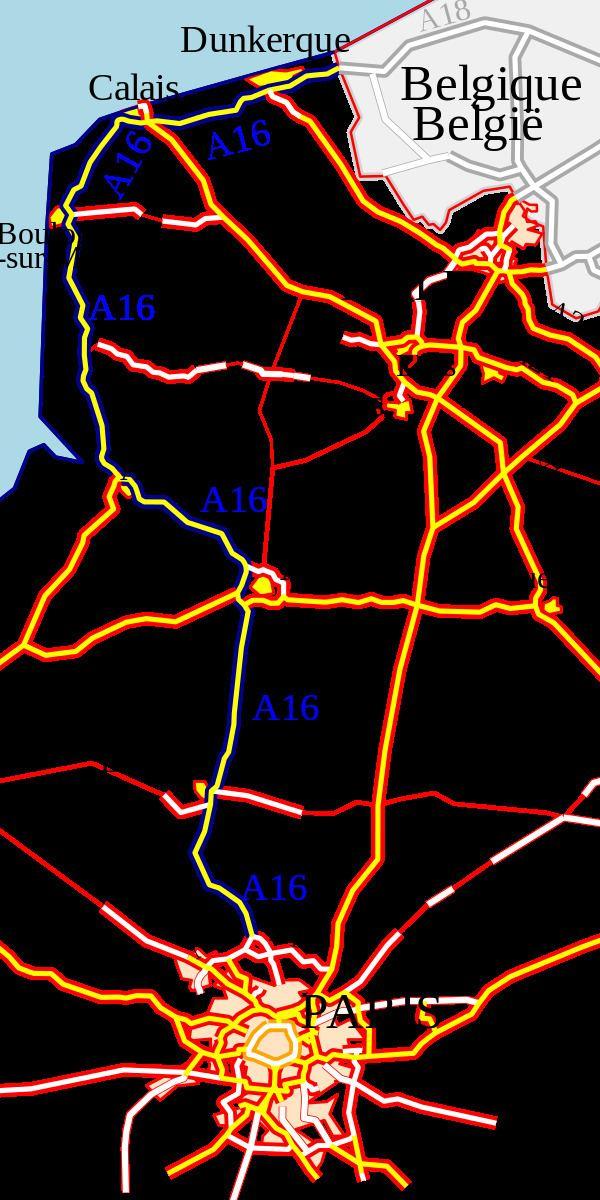 A16 autoroute