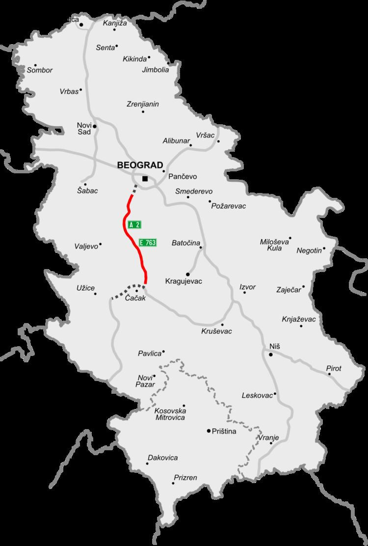 A2 motorway (Serbia)