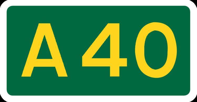 A40 road in London