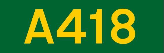 A418 road