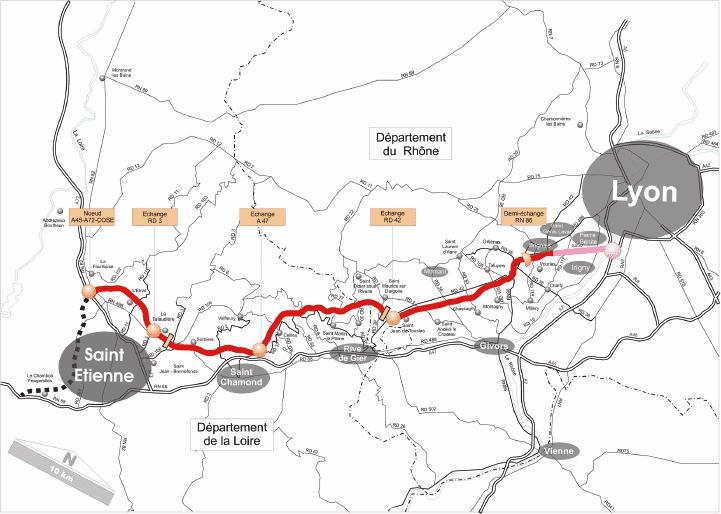 A45 autoroute A45 les collectivits de la Loire devront mettre la main la