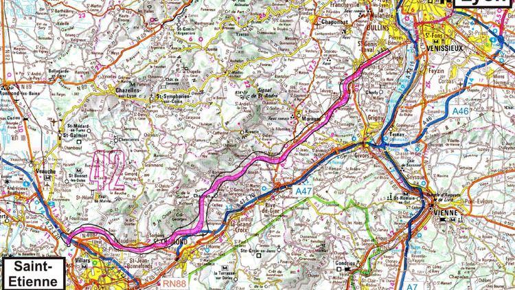 A45 autoroute A45 le dpartement du Rhne a dcid de se battre pour empcher le