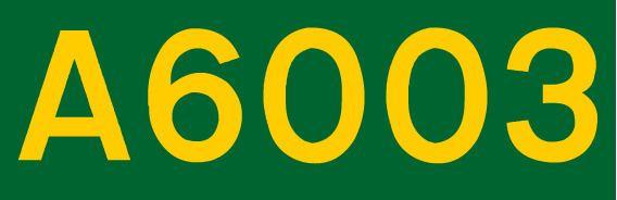 A6003 road