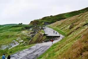 A625 road Rural Roads Former A625 at Mam Tor