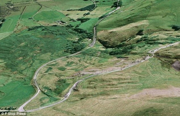 A625 road A real rocky road Abandoned halfmile stretch of tarmac in Peak